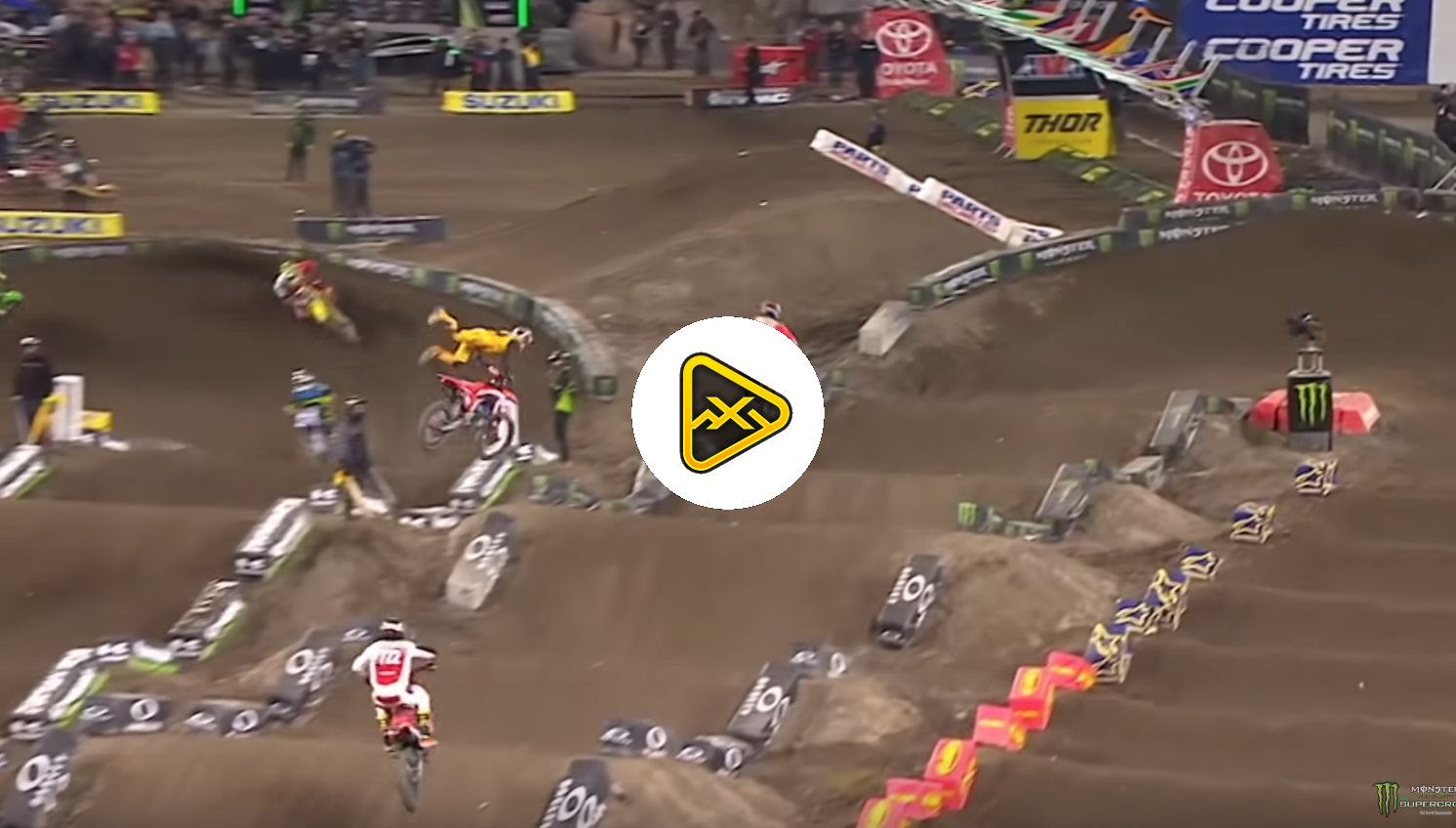 Ken Roczen's Past Crashes in Monster Energy Supercross