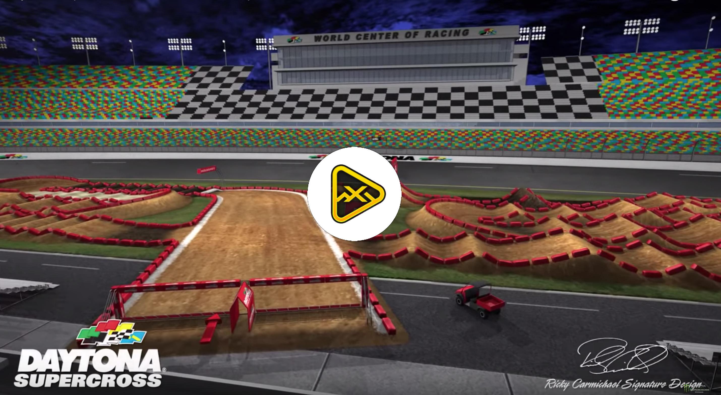 2019 Daytona SX Animated Track Map