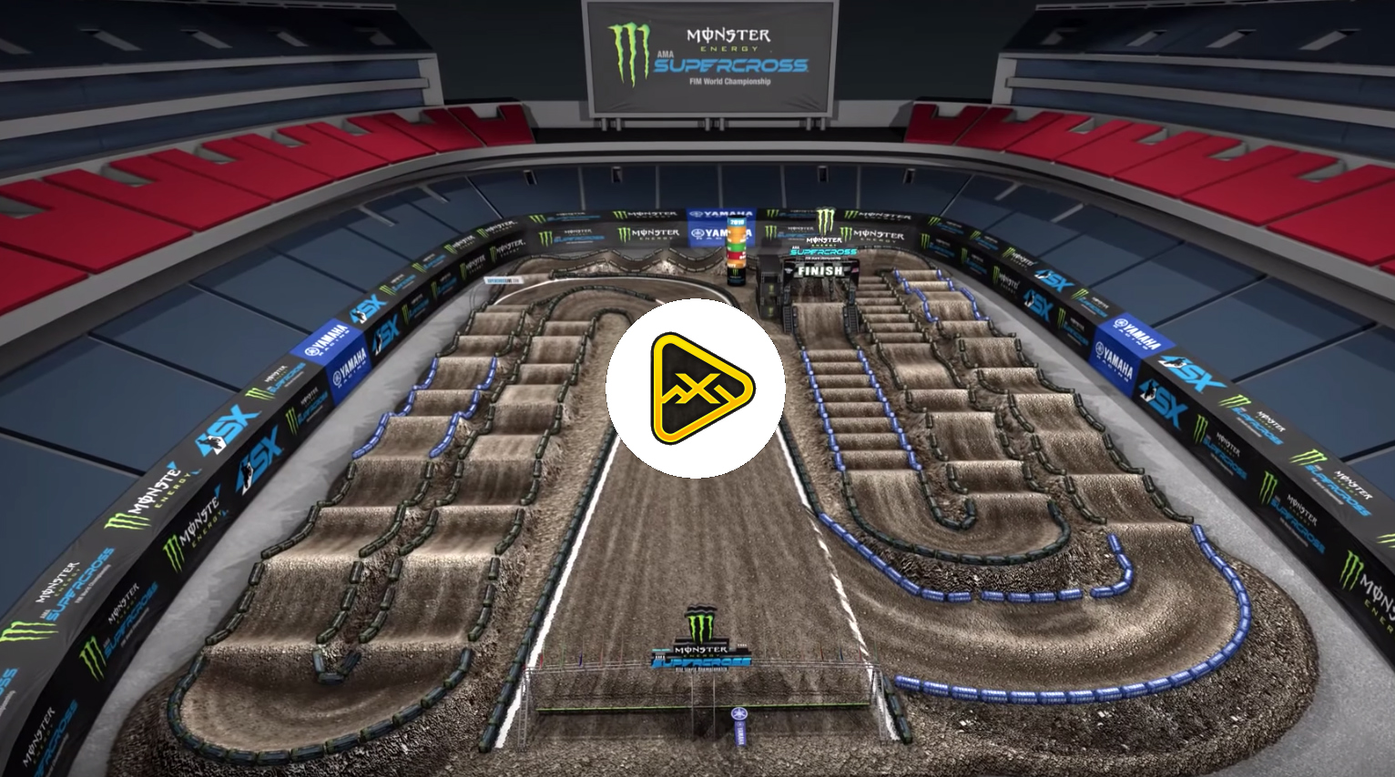 2019 Nashville SX Animated Track Map