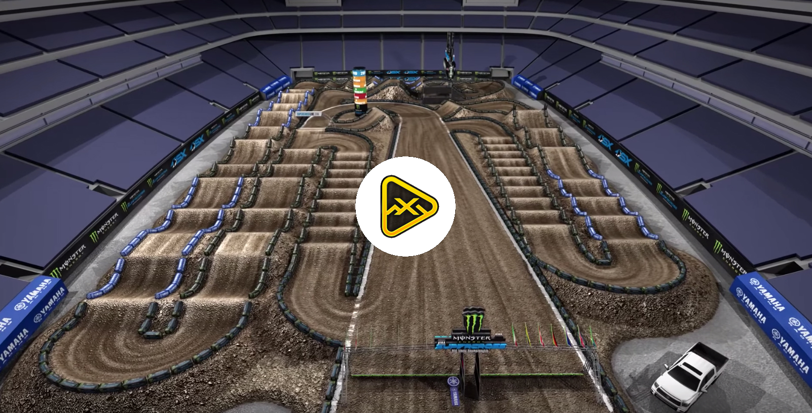 2019 East Rutherford SX Animated Track Map