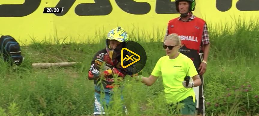 Antonio Cairoli Crash – MXGP Latvia