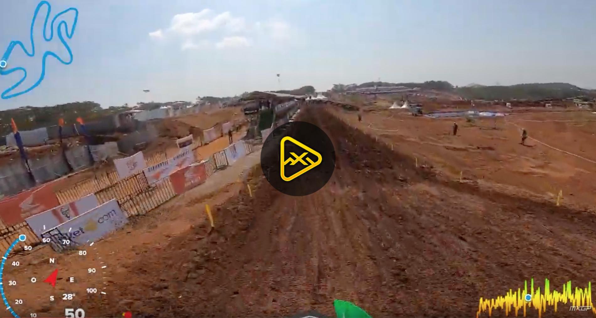 Helmet Cam: Mitchell Harrison on MXGP of Asia Circuit