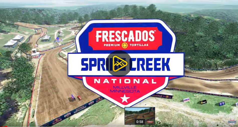 2019 Spring Creek National Animated Track Maps