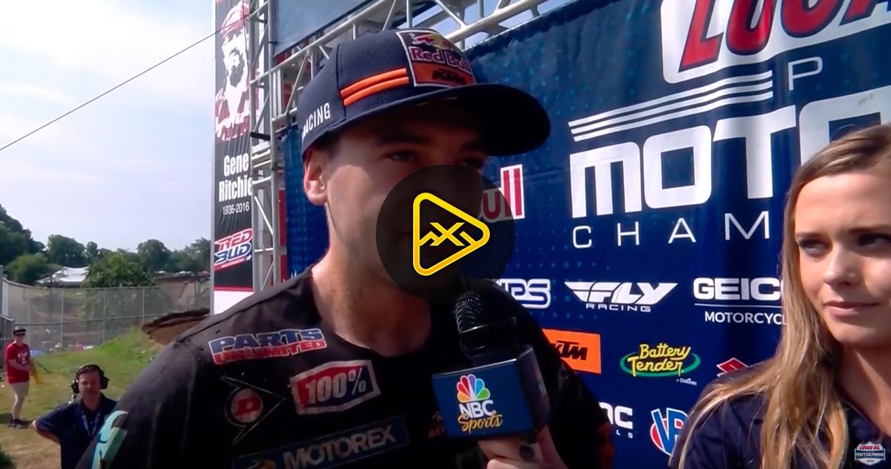 Cooper Webb Interview – Fastest Qualifier RedBud