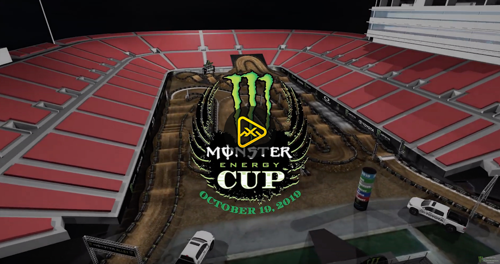 2019 Monster Energy Cup Animated Track Maps