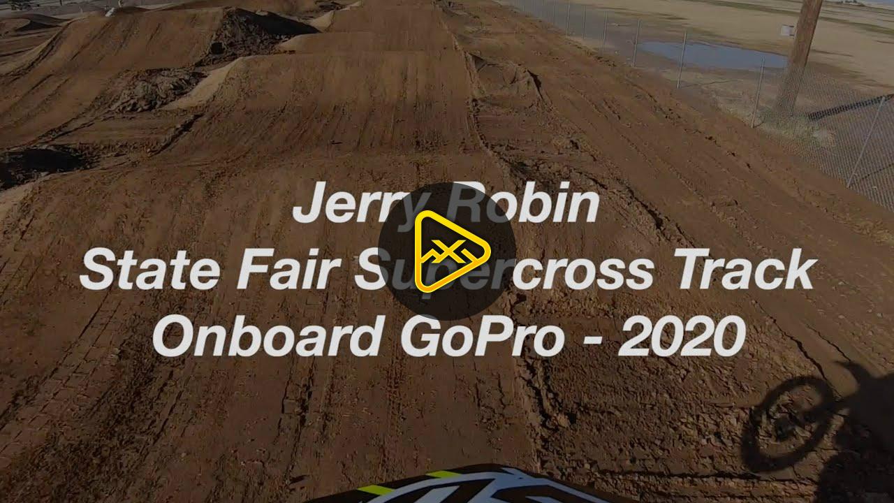 Helmet Cam: Jerry Robin at State Fair MX's SX Track