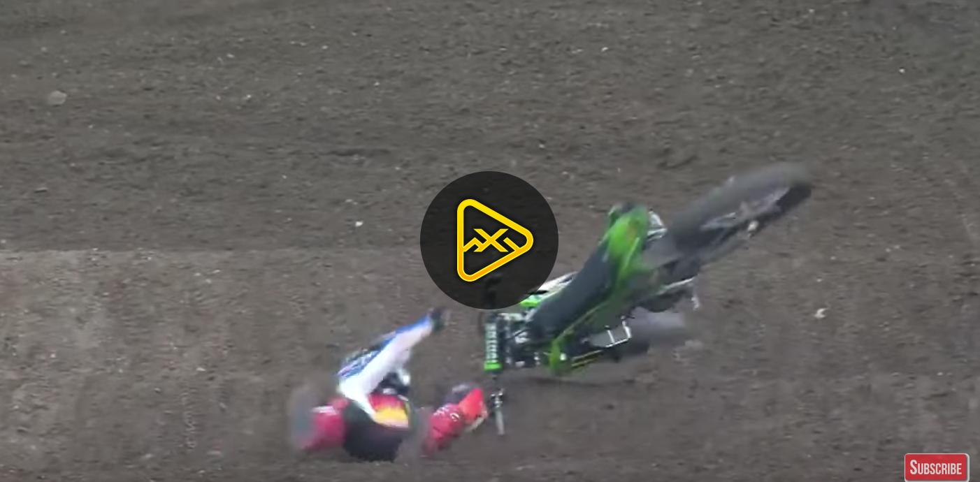 Austin Forkner Crash – Anaheim 1 SX