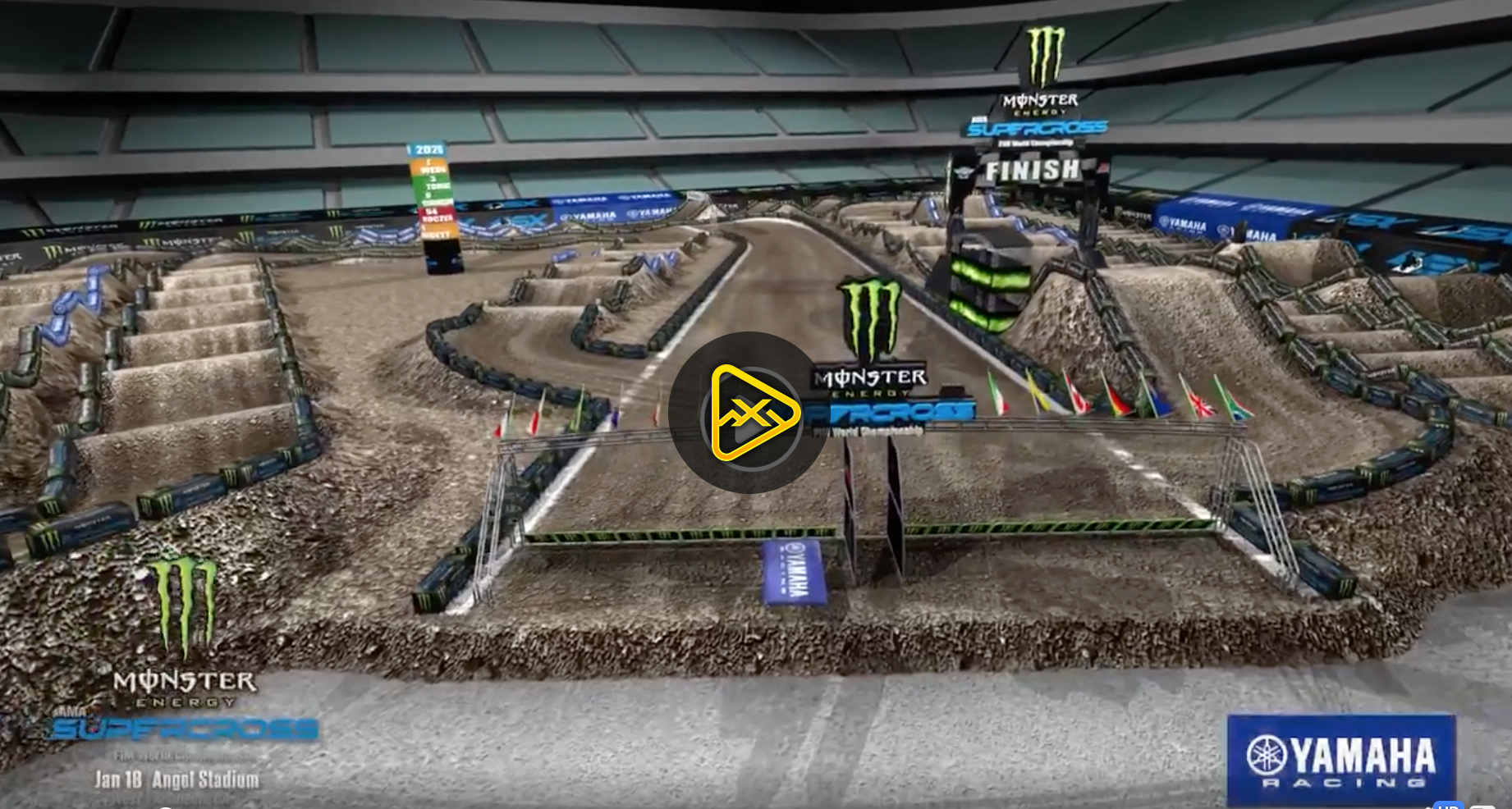 2020 Anaheim 2 SX Animated Track Map