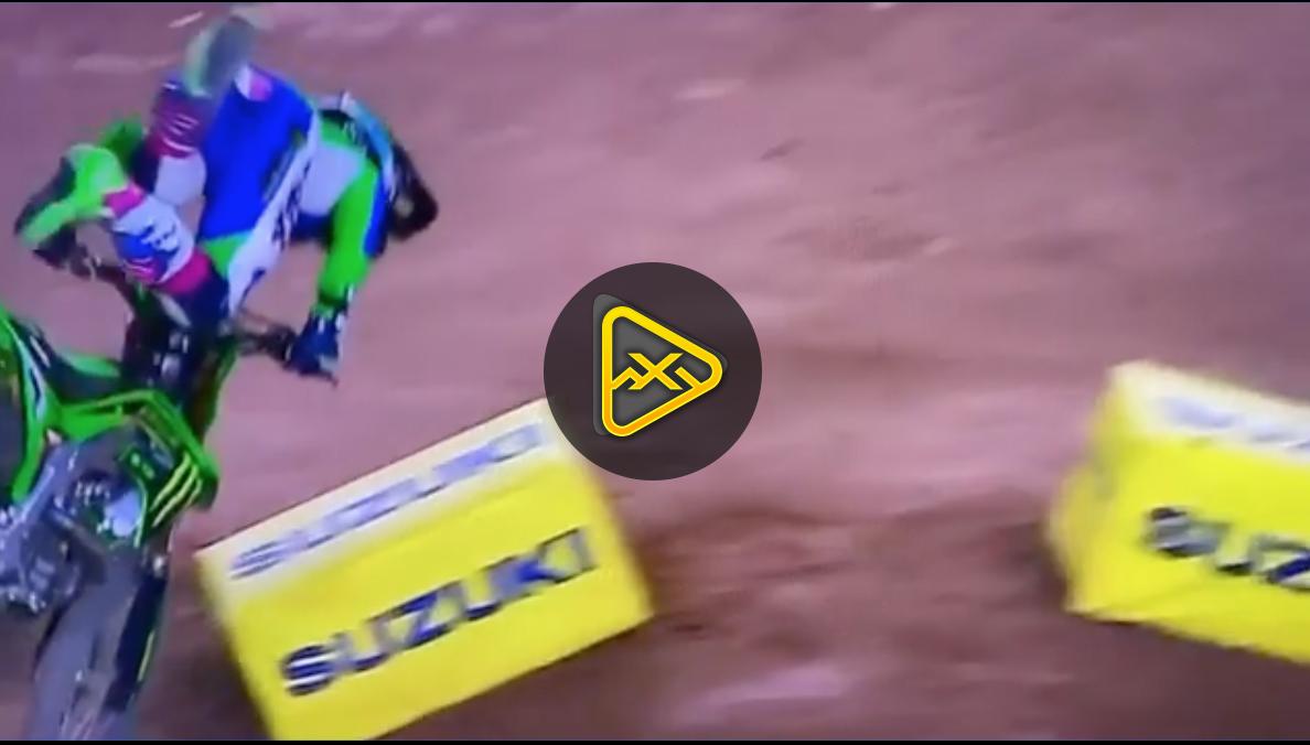 Adam Cianciarulo Crash – 2020 Glendale SX