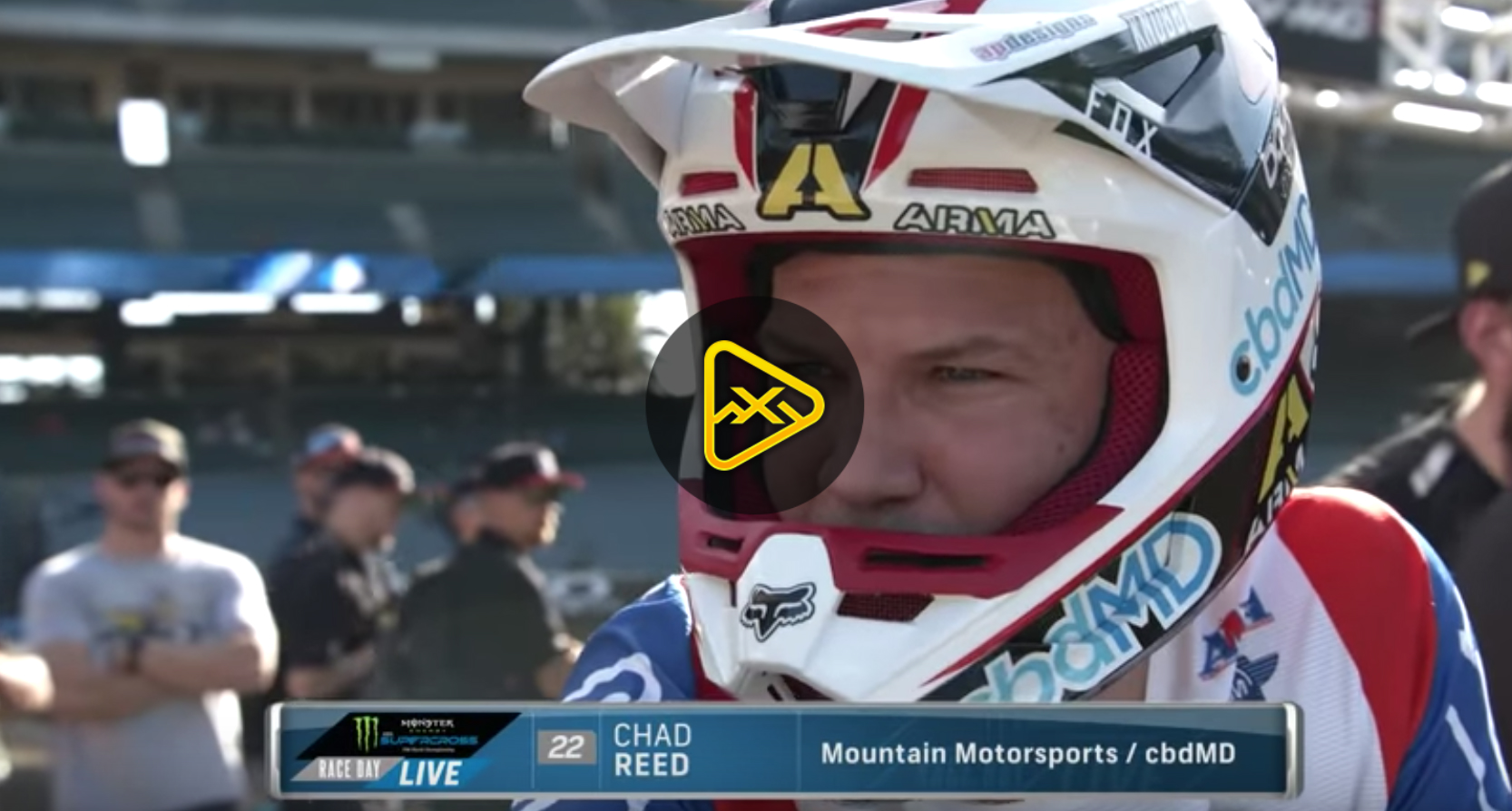 Chad Reed Gets Emotional at Anaheim 1