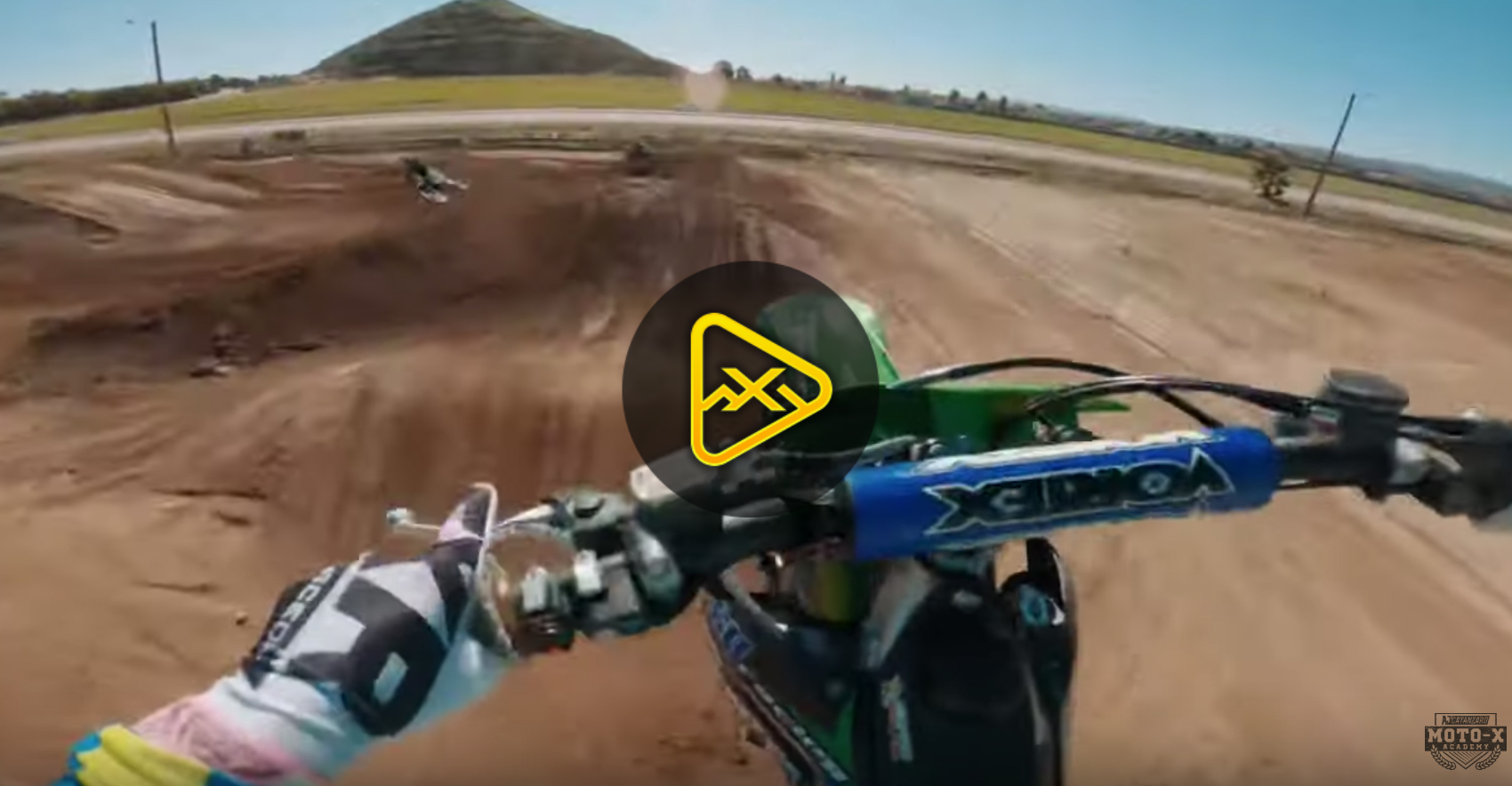 Helmet Cam: 2 laps with AJ at State Fair SX