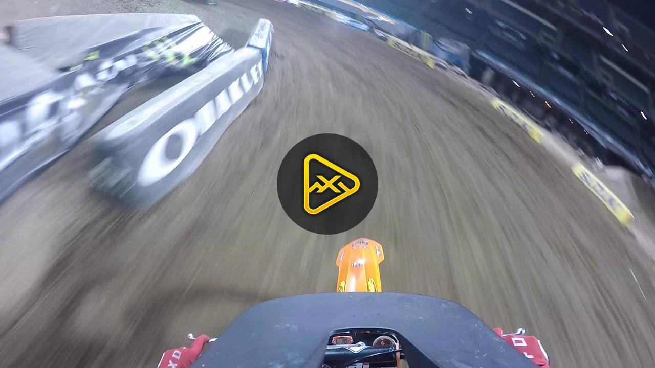 Helmet Cam: Preston Boespflug Oakland SX Futures 125 B/C