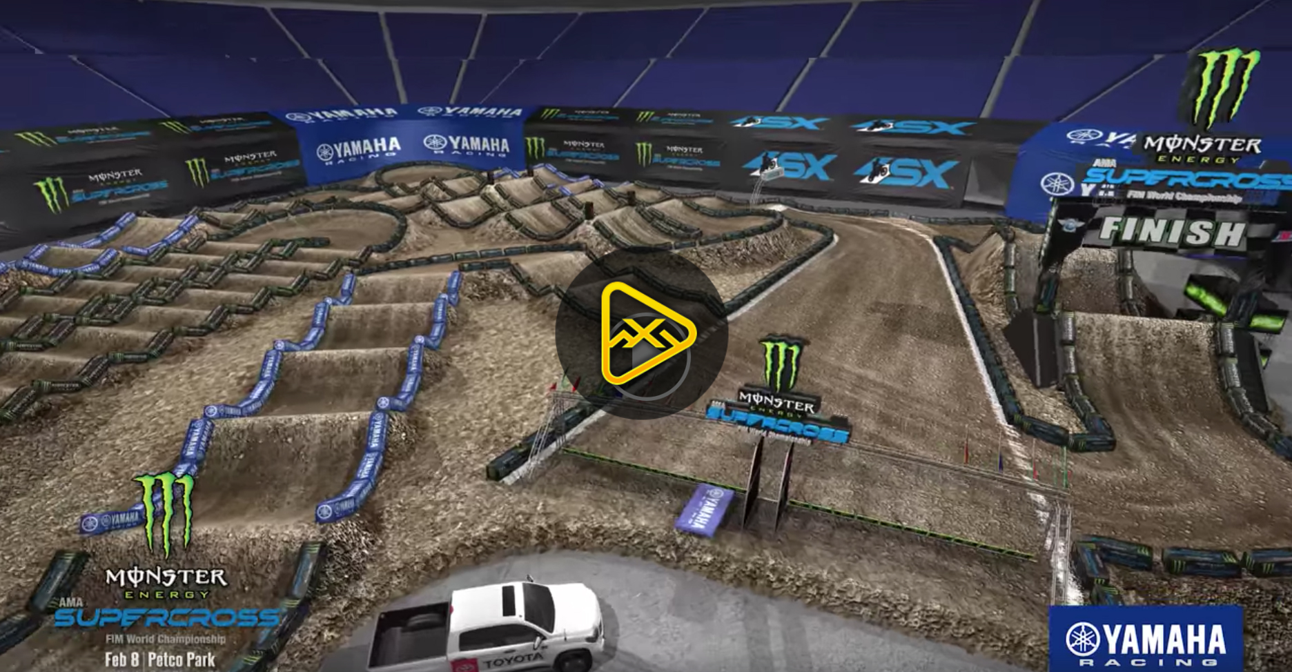 2020 San Diego SX Animated Track Map
