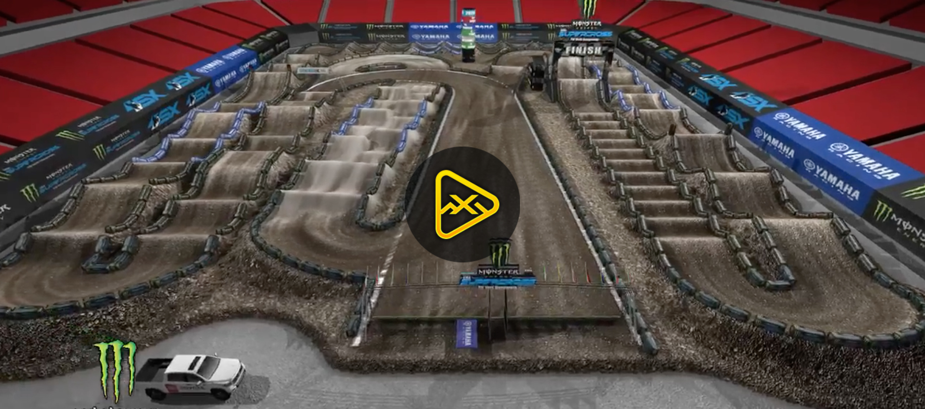 2020 Tampa SX Animated Track Map
