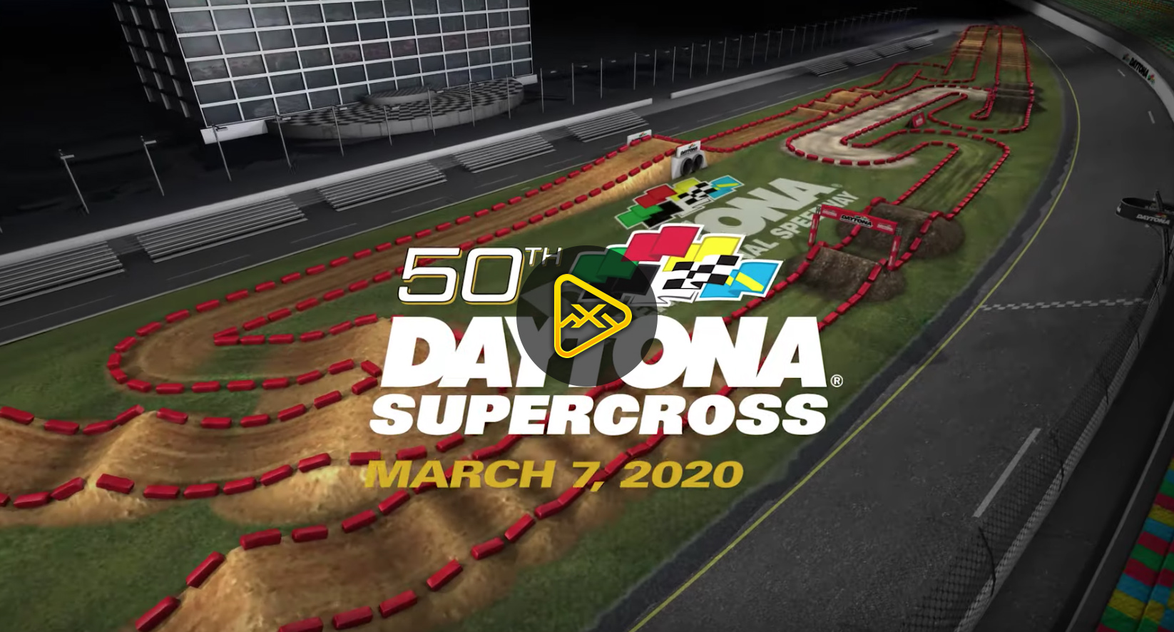 2020 Daytona SX Animated Track Map