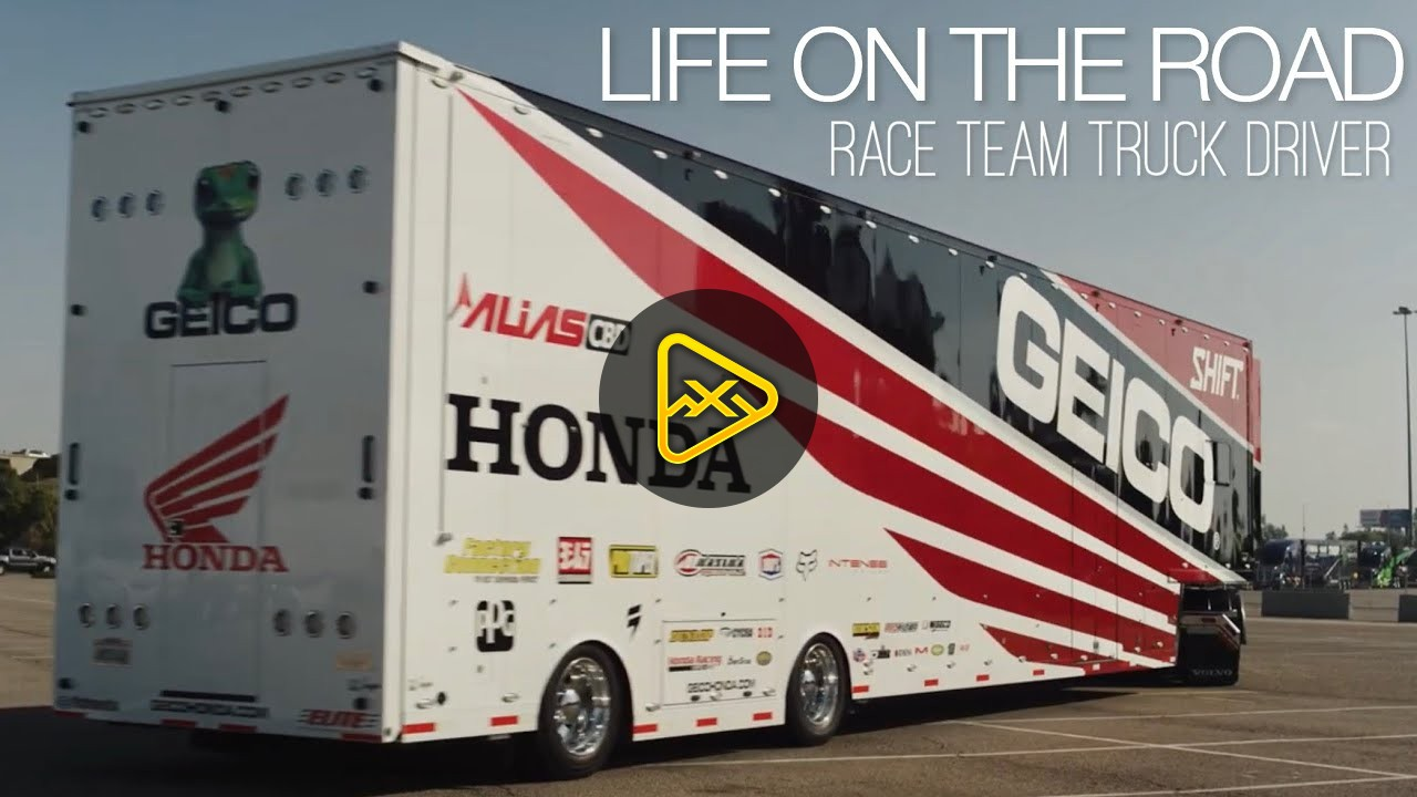 LIFE ON THE ROAD | GEICO Honda Race Team's Truck Driver