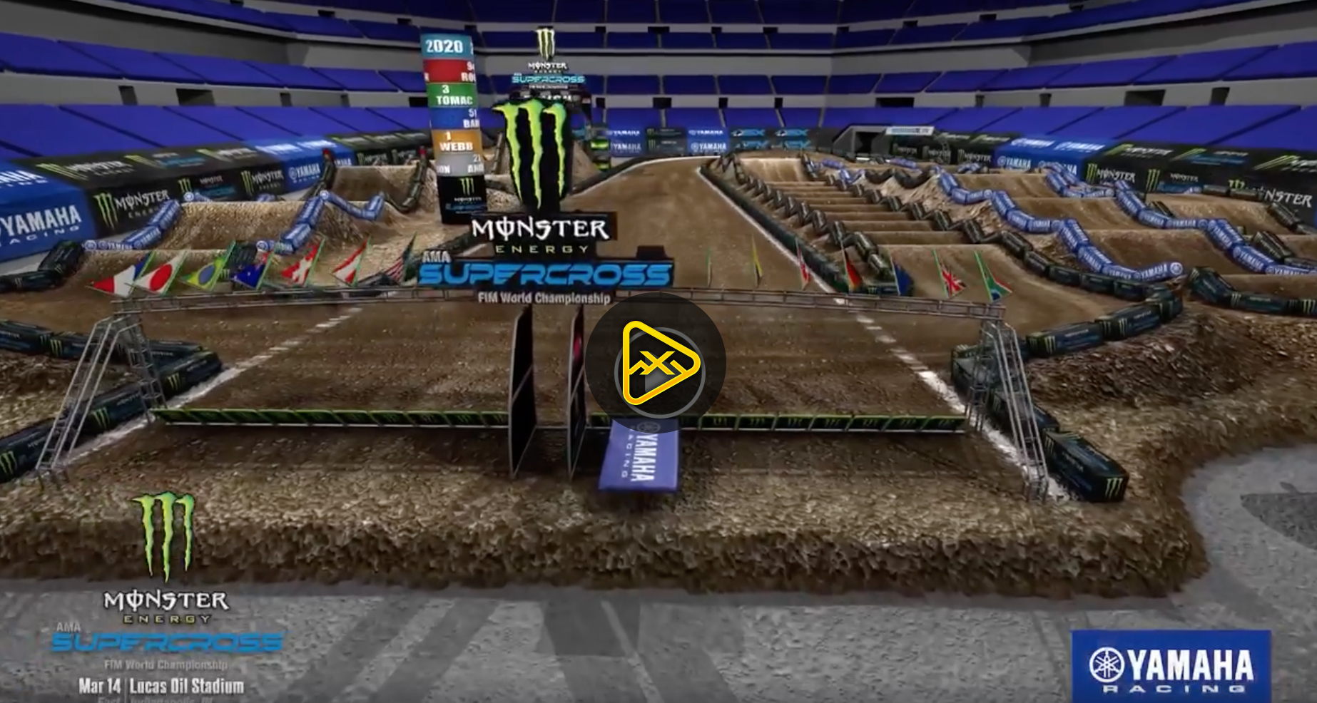 2020 Indianapolis SX Animated Track Map