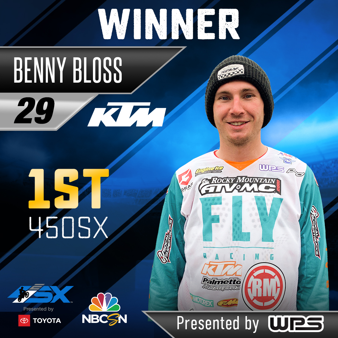 Bloss Wins Main Event in First-Ever Supercross E SX Event