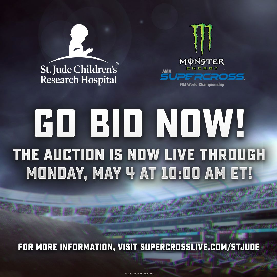 Supercross This Race Saves Lives St. Jude Online Auction ends Monday