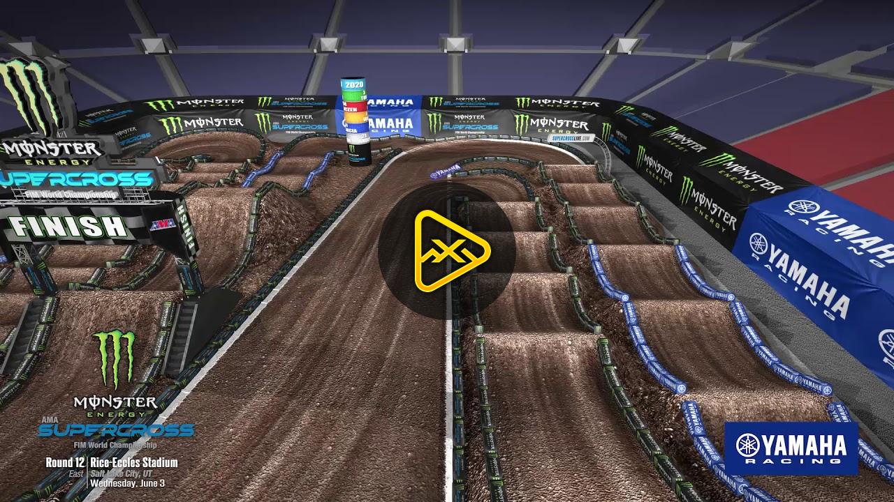 Animated Track Map – Round 12 – Salt Lake City SX