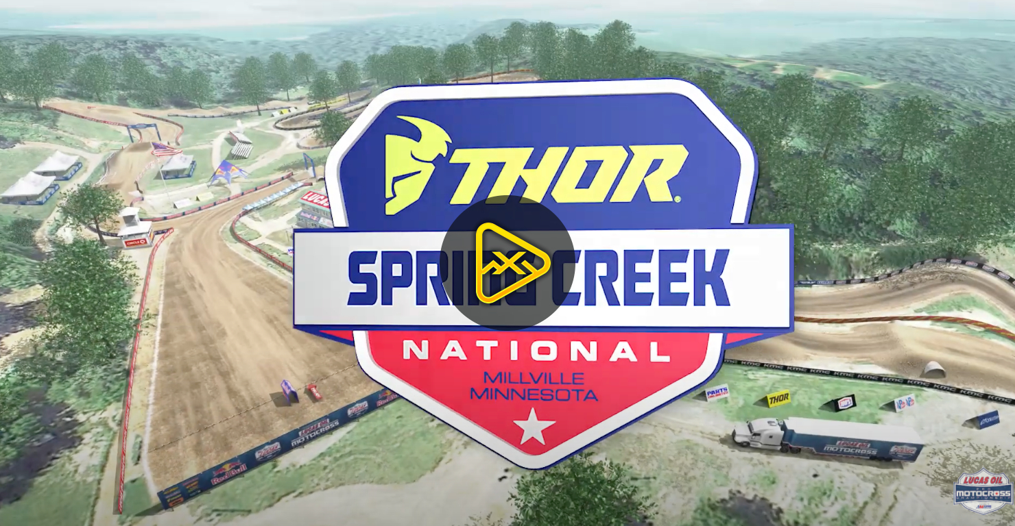 2020 Spring Creek National Animated Track Map