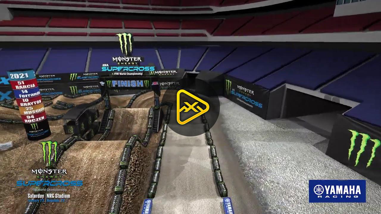 Animated Track Map – Round 3 – Houston 3 SX