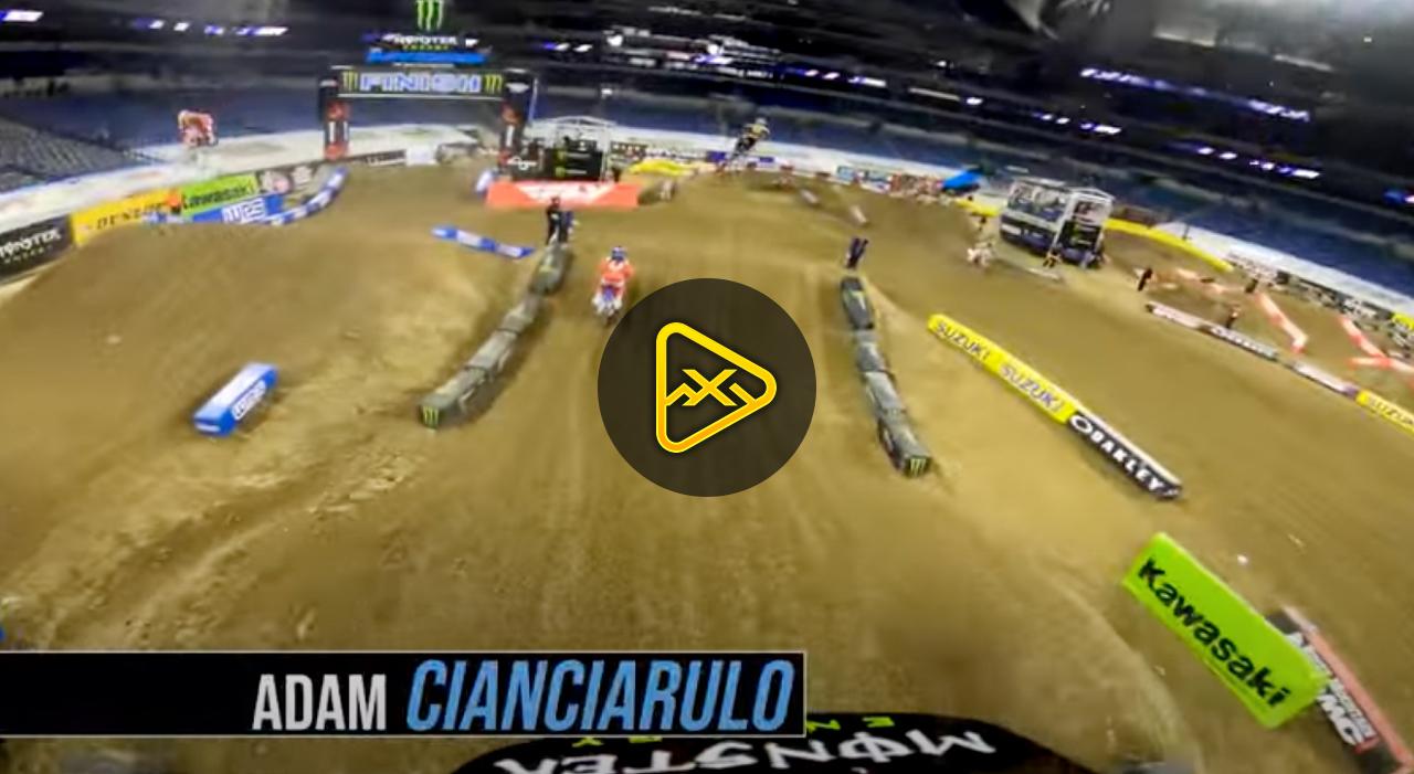 Helmet Cam: Adam Cianciarulo at 2021 Indianapolis 1 SX