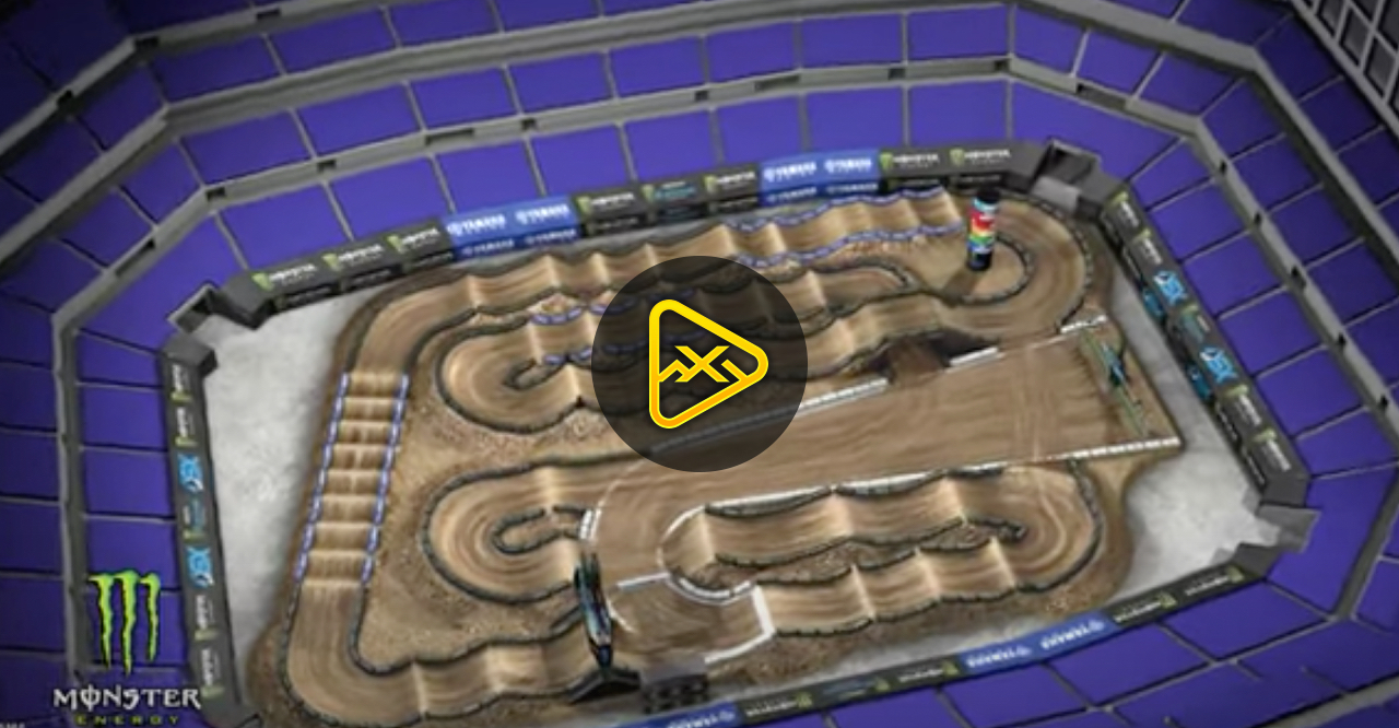 2021 Indianapolis 1 Supercross Animated Track Map