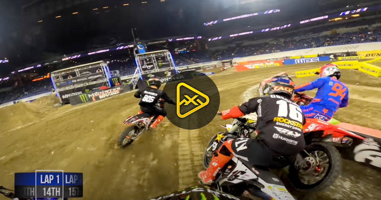 GoPro: Malcolm Stewart – Heat Race at Indianapolis 3 SX