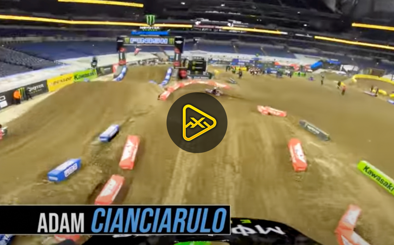GoPro: Adam Cianciarulo – Hot Lap at Indianapolis 3 SX